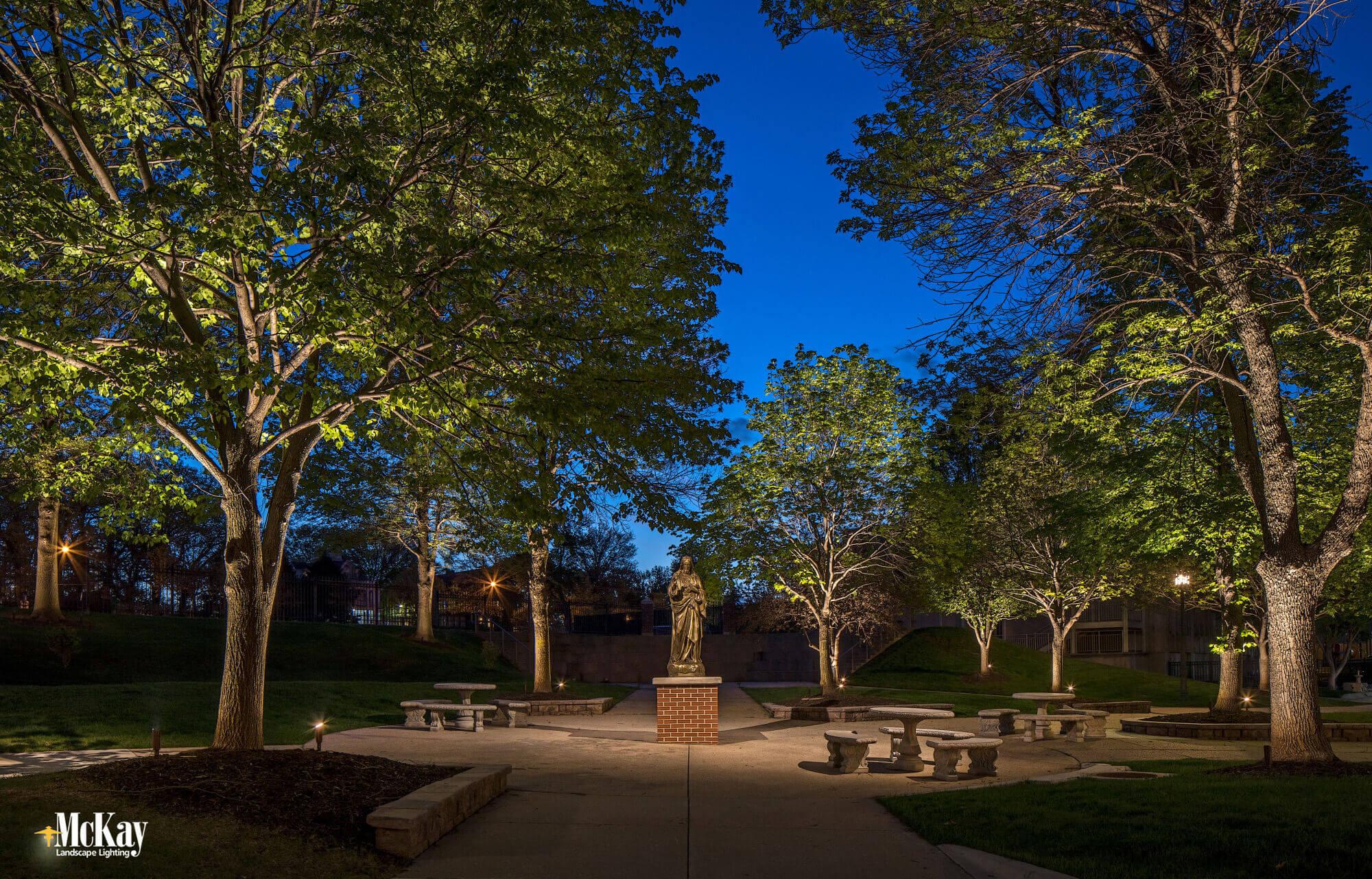 Education Facility Exterior Lighting - Landscape Lighting Schools & University Campus