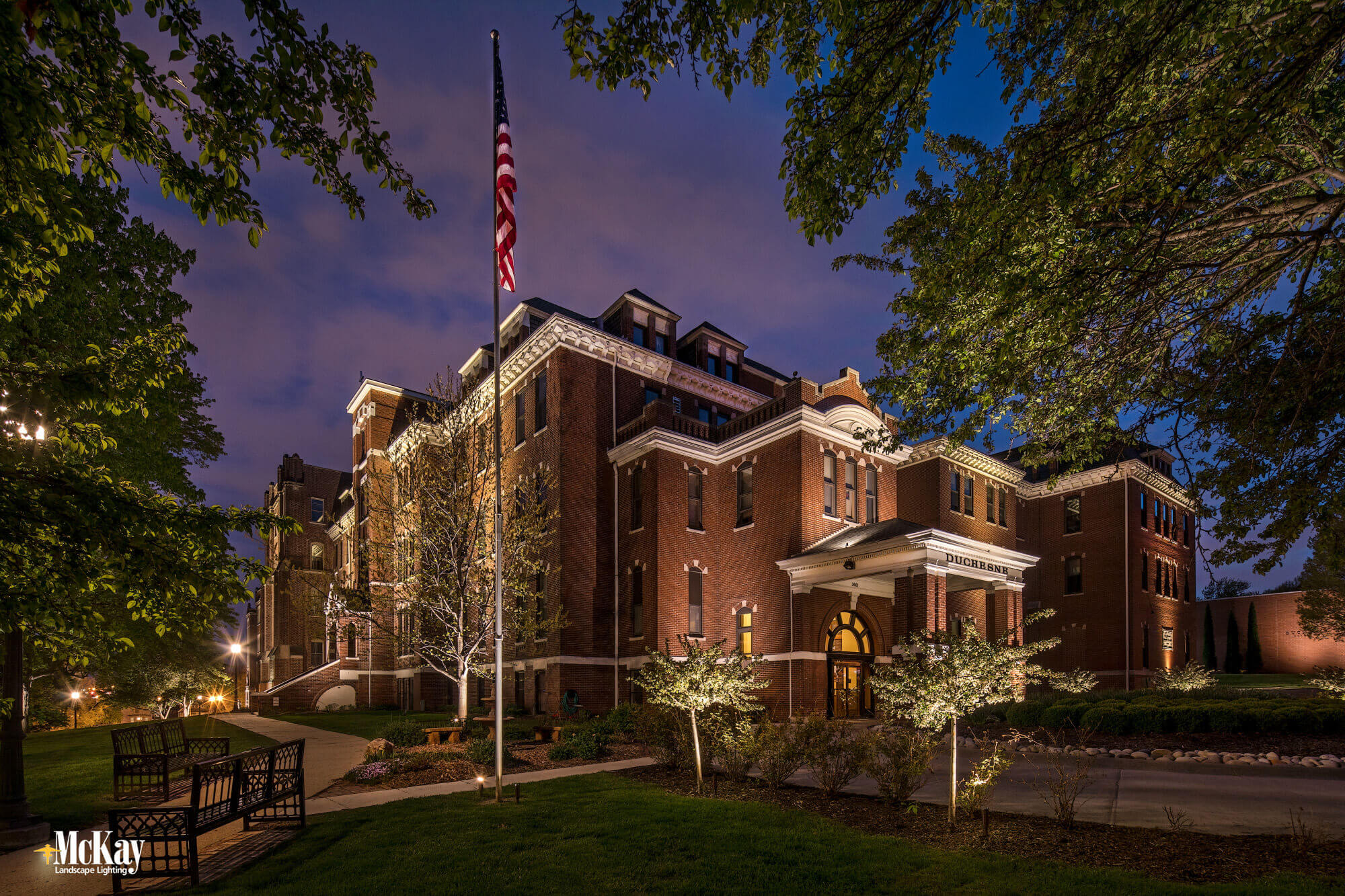 Educational facility lighting - McKay Landscape Lighting