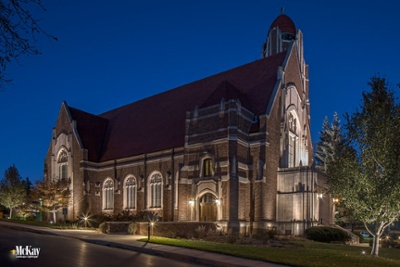 Outdoor Church Lighting Omaha Nebraska McKay Landscape Lighting DP 07-1