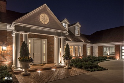 Front Entrance Exterior Lighting Omaha Nebraska McKay Landscape Lighting G 04-1