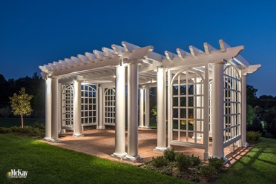 Pergola Lighting Omaha Nebraska McKay Landscape Lighting G 10-1