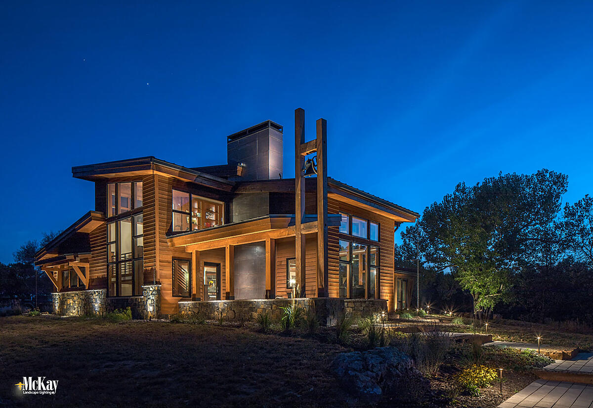 Architectural Outdoor Lighting Distinctive Features Enhance Curb Appel Value Omaha Nebraska McKay Landscape Lighting