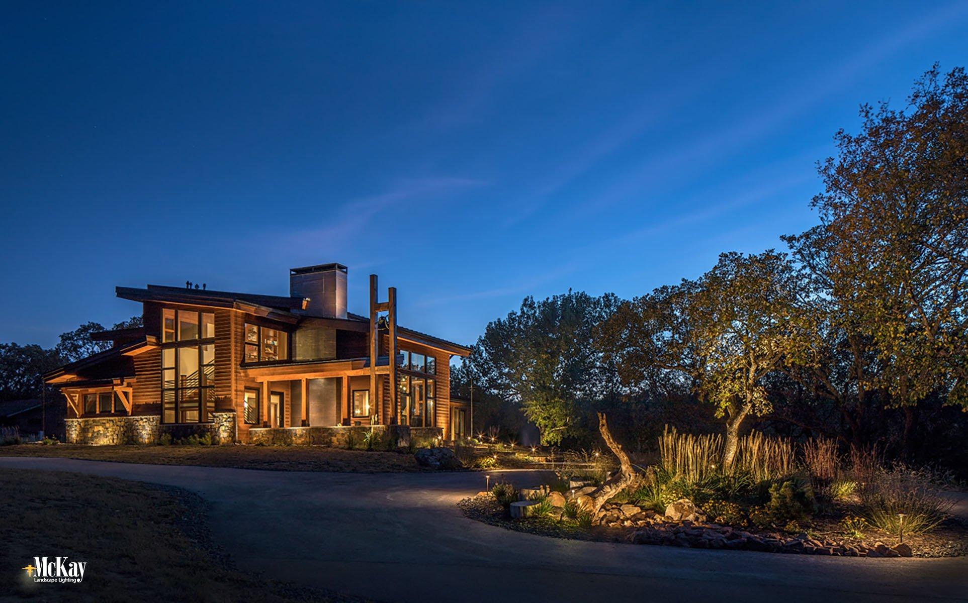 Architectural Outdoor Lighting Omaha Nebraska McKay Landscape Lighting H 02
