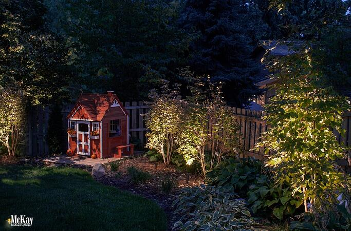 Summer nights are made for spending time outside, and nature therapy is good for the mind, body, and spirit. Landscape lighting makes it easy to extend the fun into the evening. Read more... | McKay Landscape Lighting