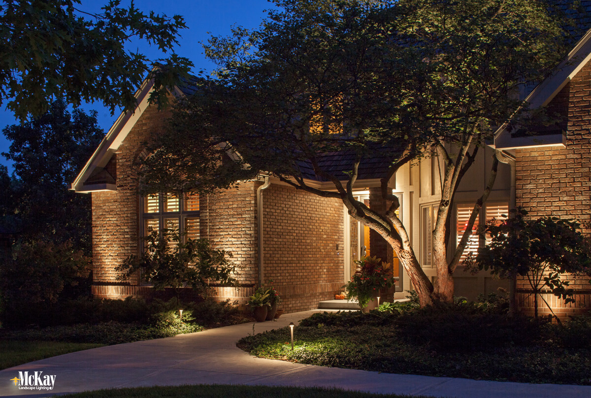 Residential Outdoor Security Lighting - Front Entrance Lighting Omaha Nebraska