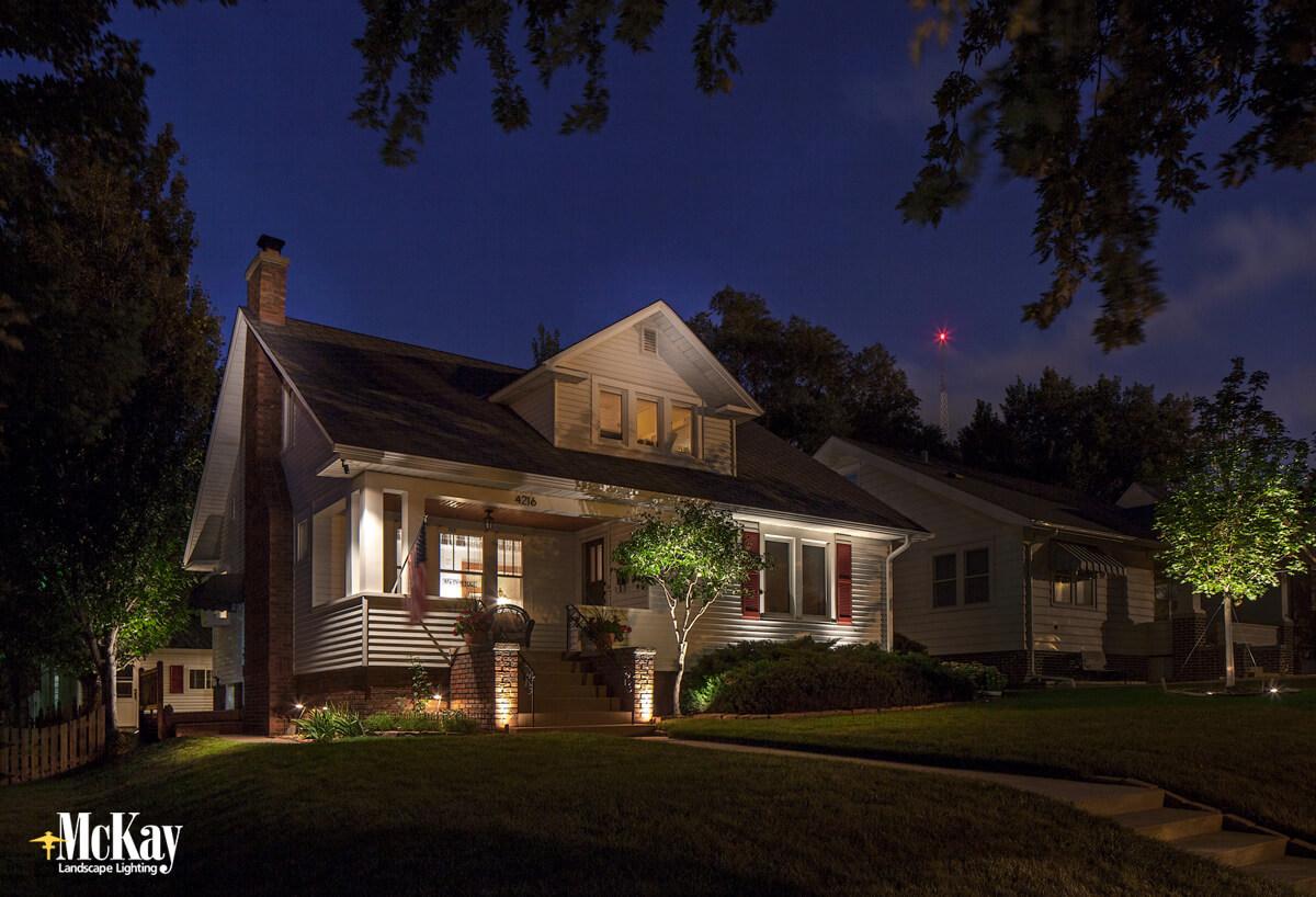 Effective and Attractive Outdoor Security Lighting Omaha Nebraska - McKay Landscape Lighting