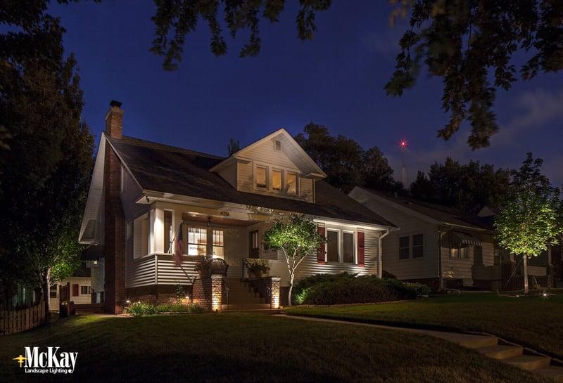 Residential Security Lighting in the Spring Omaha Nebraska McKay Landscape Lighting
