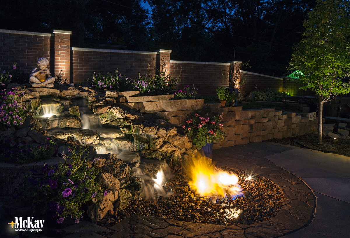 feature lighting ideas. See Some Of Our Favorite Landscape Lighting Ideas For Water Features. Click To More Feature V
