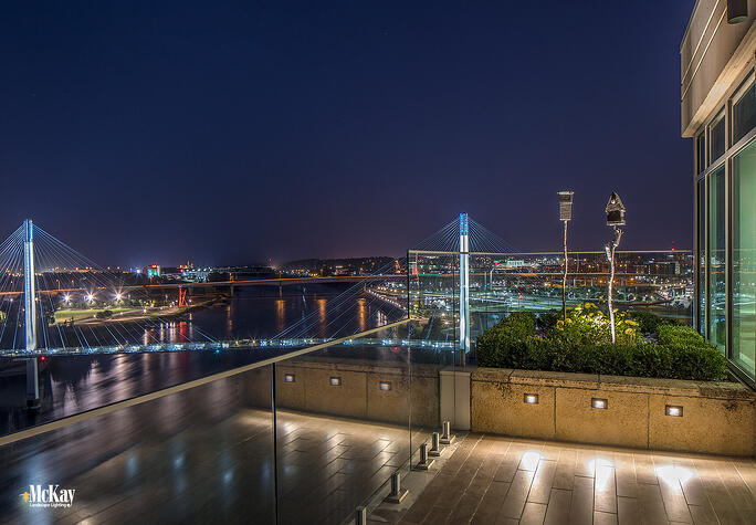 new landscape lighting project downtown omaha private rooftop terrace