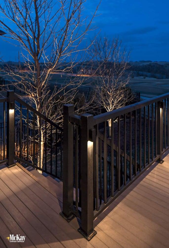 Deck Lighting Omaha NE McKay Landscape Lighting 04
