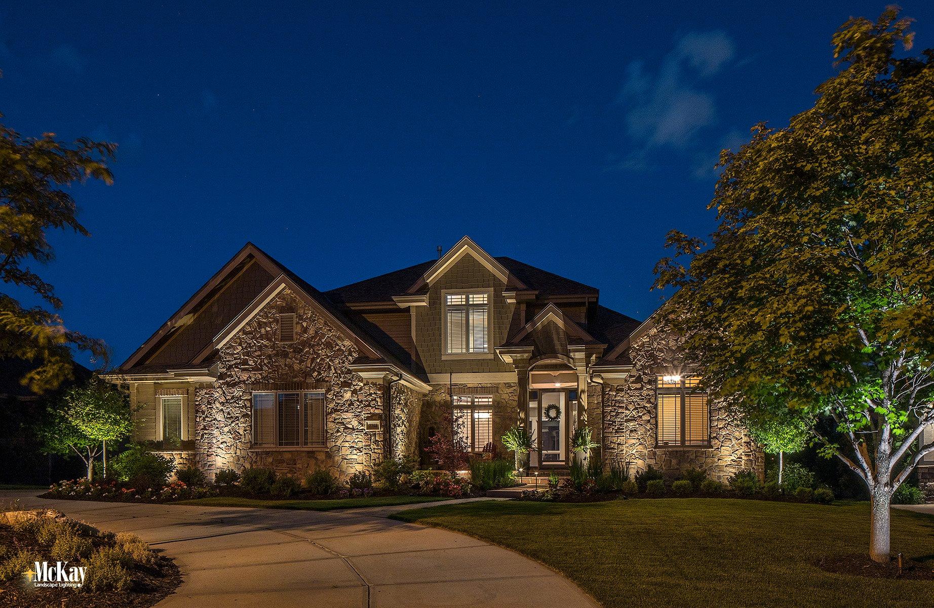 Outdoor Home Security Lighting Omaha Nebraska - McKay Landscape Lighting