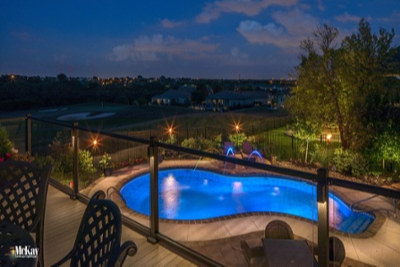 Residential Outdoor Pool Lighting Omaha Nebraska