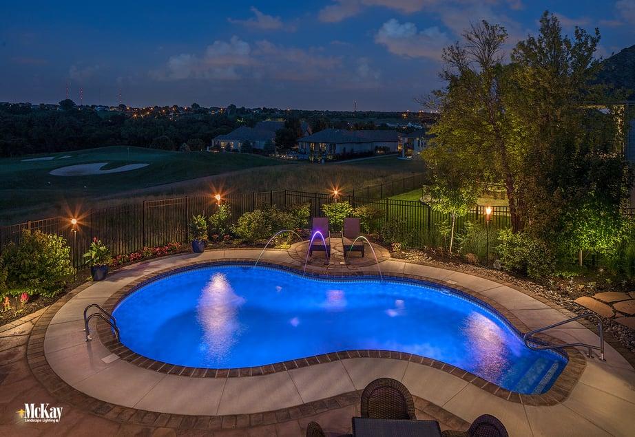 Pool Lighting Ideas to Create a Safer Environment and Resort-Like Setting | McKay Landscape Lighting Omaha Nebraska