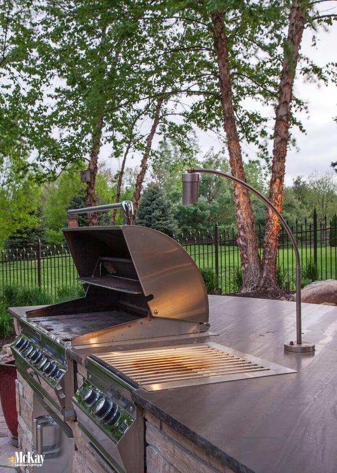 Outdoor kitchen lighting series part two grill lighting grill lights omaha nebraska mckay landscape lighting aloadofball Gallery