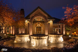 Water Feature Landscape Lighting Omaha Nebraska McKay Landscape Lighting M 02