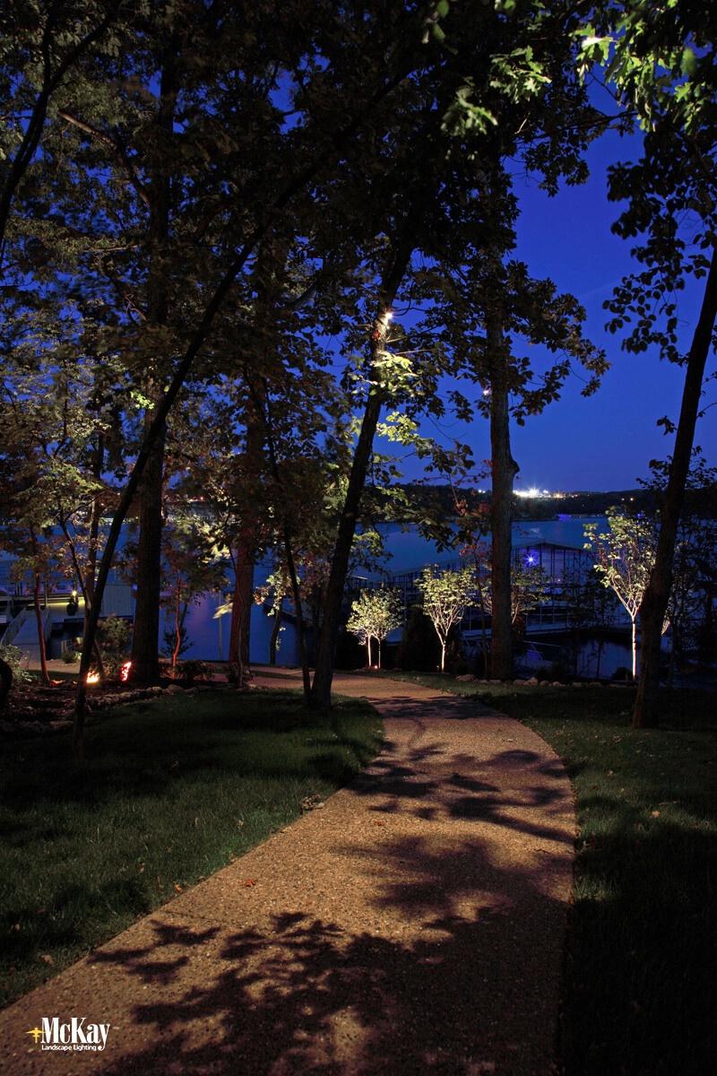 Outdoor Lighting Design Techniques: Downlighting from a Tree - McKay Landscape Lighting Omaha Nebraska
