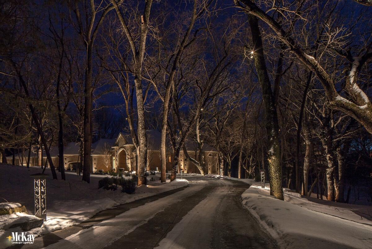 Decorative Driveway Bollard Lights | McKay Landscape Lighting, Omaha, Nebraska