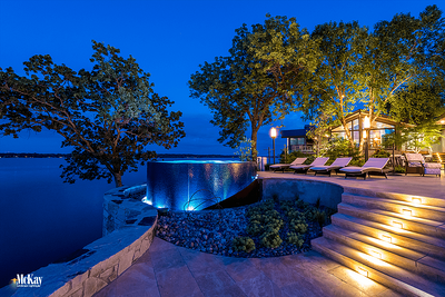 Lake House Outdoor Lighting Omaha Nebraska