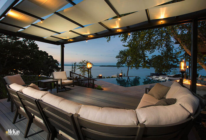 There's a NEW landscape lighting project in our gallery, click to find out more about the lighting design at this private lakeside vacation home. | McKay Landscape Lighting, Omaha, Nebraska