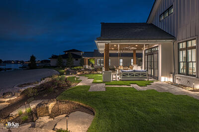 Lake House Outdoor Lighting Ideas Bluewater Lake Valley Nebraska McKay Landscape Lighting