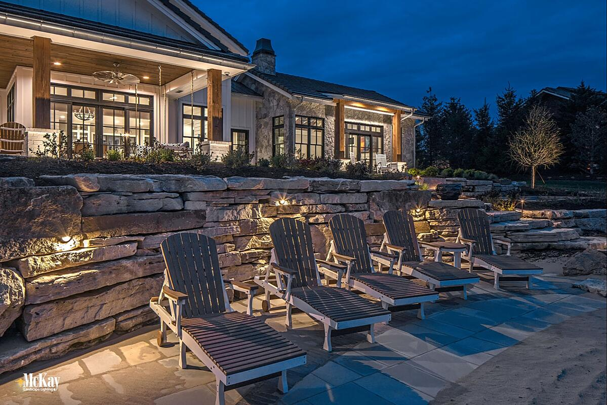 Beach Lake Home Wall Lighting - Retaining Wall Lighting Omaha Nebraska McKay Landscape Lighting