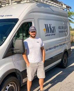 Outdoor Landscape Lighting Service Technician Omaha Nebraska | McKay Landscape Lighting