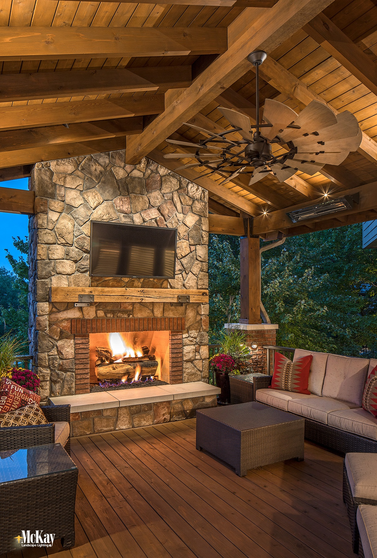 Here's How Landscape Lighting can Make Your Deck and Extension of Your Home | Blog Post by McKay Landscape Lighting Omaha, Nebraska
