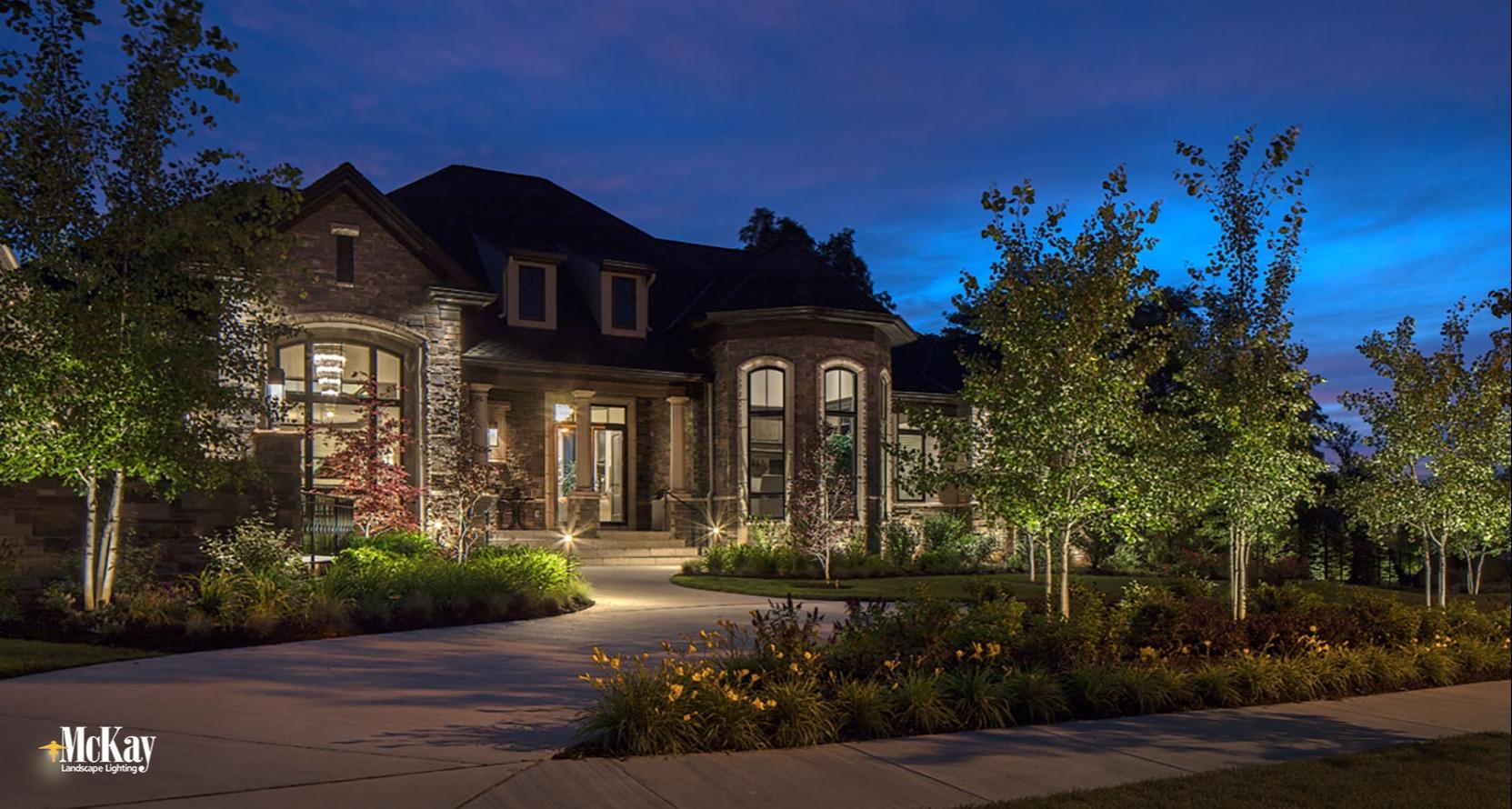 Outdoor Landscape Lighting Design and Installation Omaha Nebraska