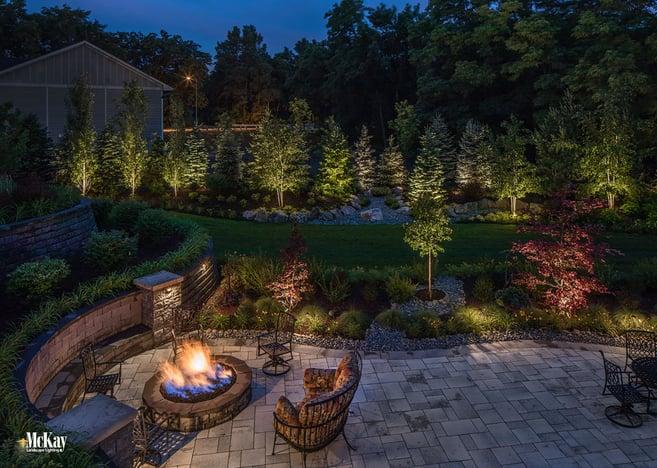 Outdoor Fire Pit Lighting Omaha Nebraska McKay Landscape Lighting S 10