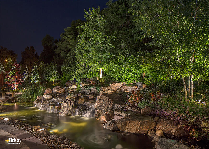 Water feature outdoor lighting ideas and tips omaha nebraska McKay Landscape Lighting