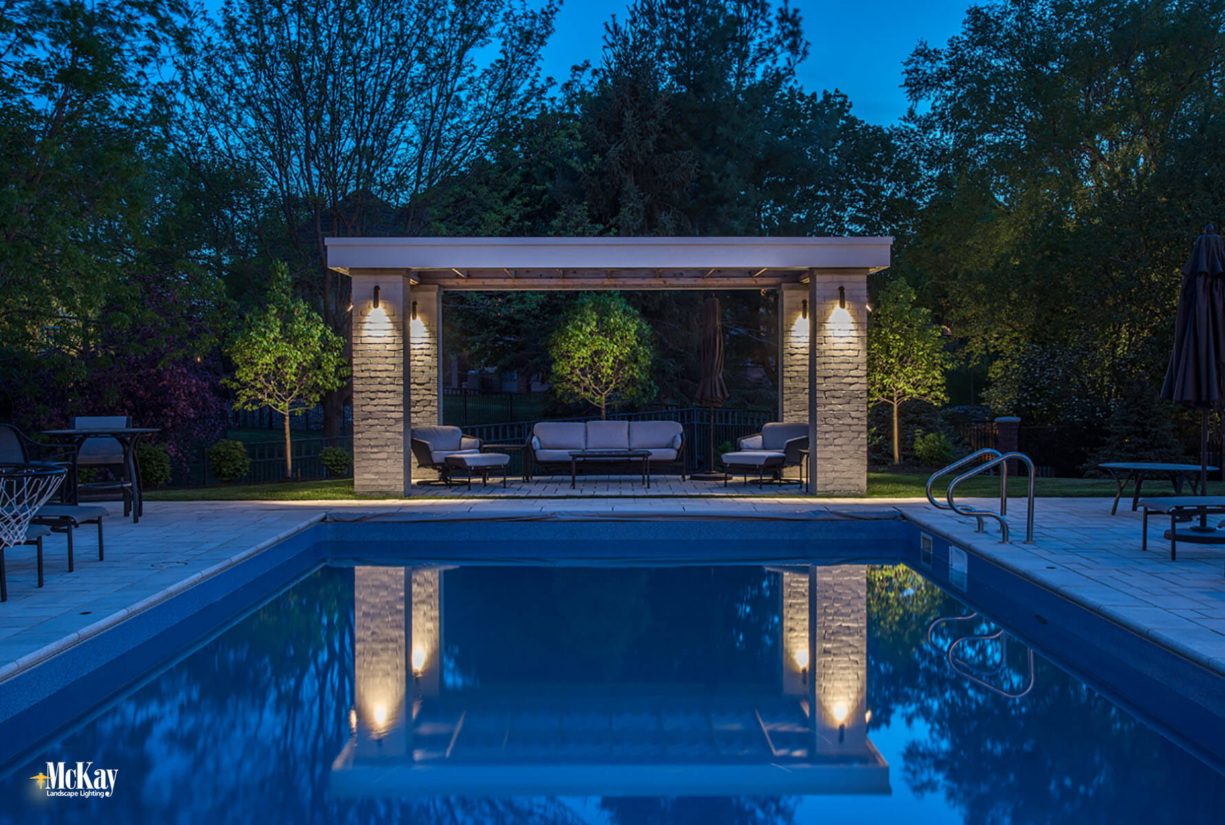 Landscape Lighting Around a Pool
