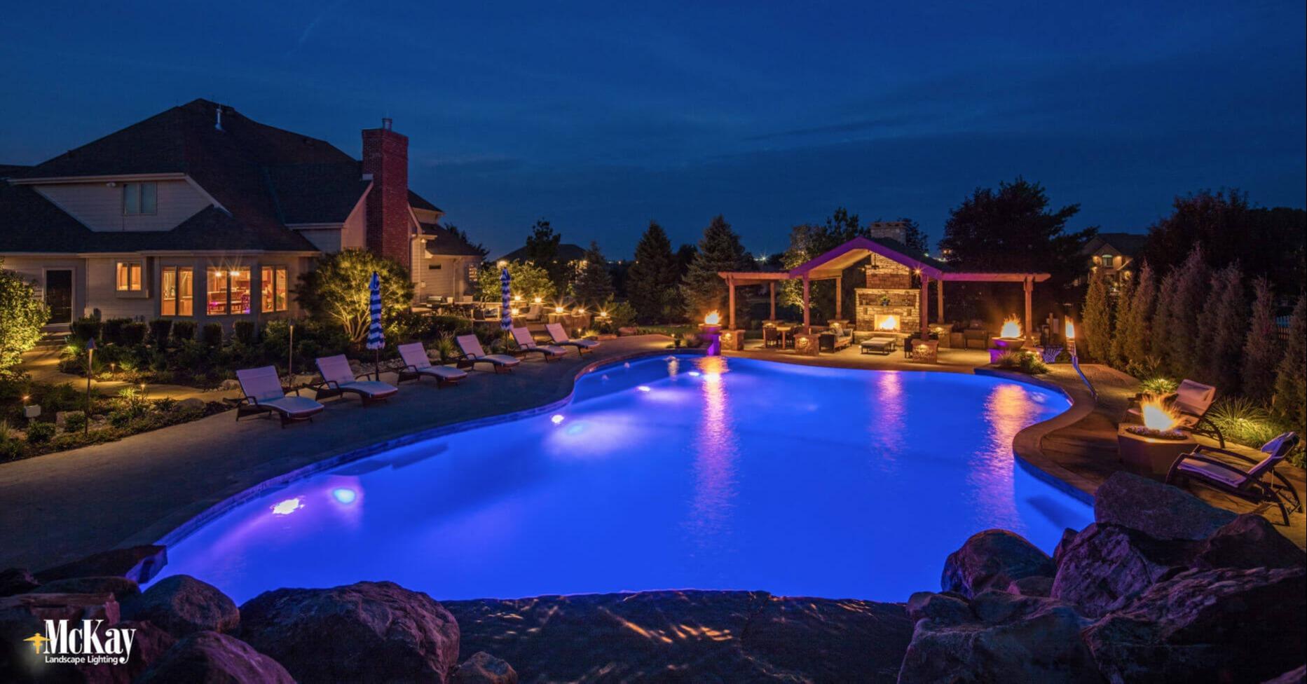 Pool Lighting - Create a Safer Environment and Resort-Like Setting | McKay Landscape Lighting Omaha Nebraska