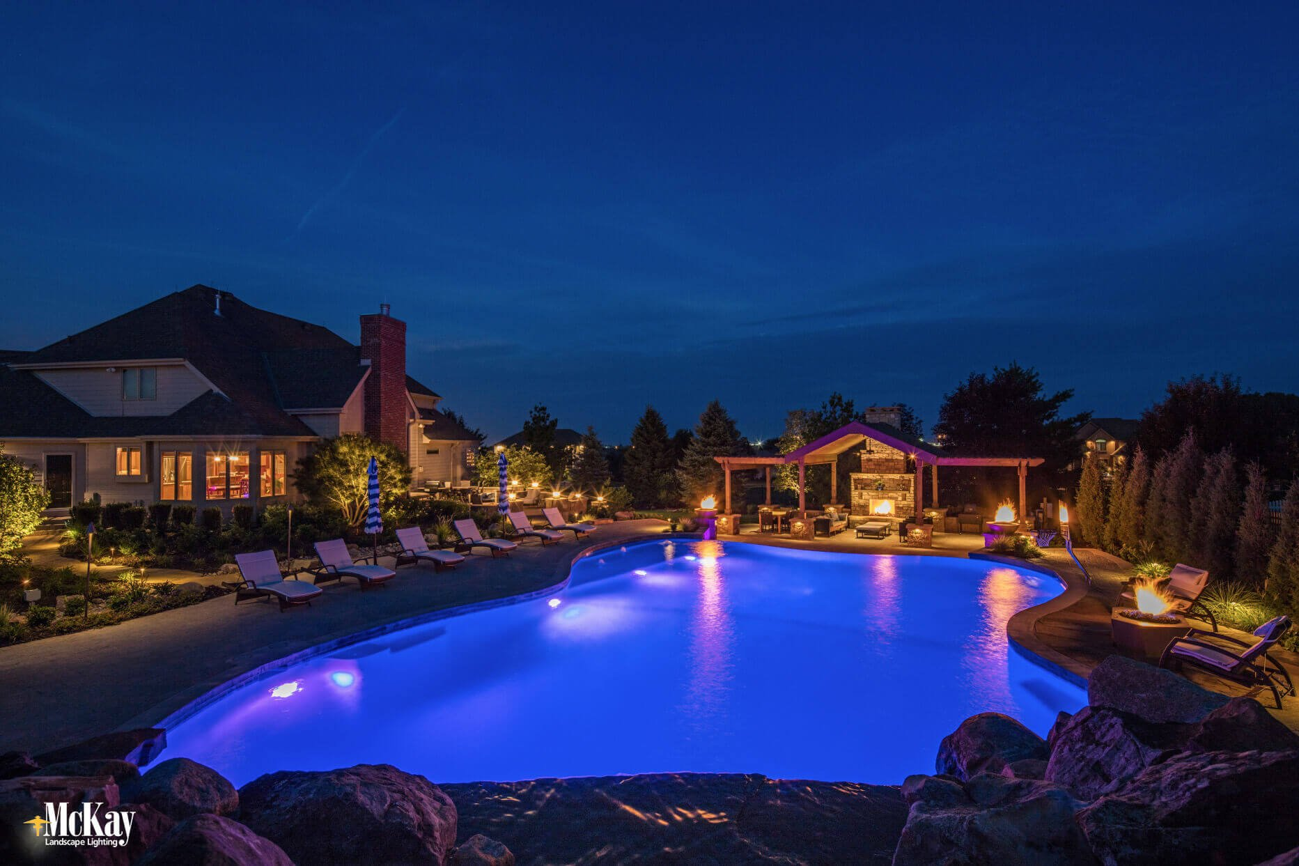McKay Landscape Lighting Photos Featured in Landscape Contractor