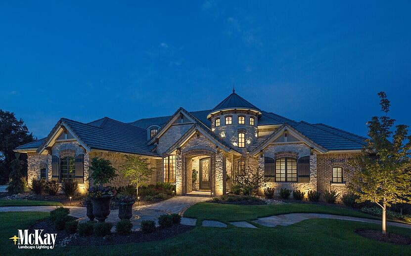 Landscape lighting planning tips for new home builds or remodels aloadofball Choice Image