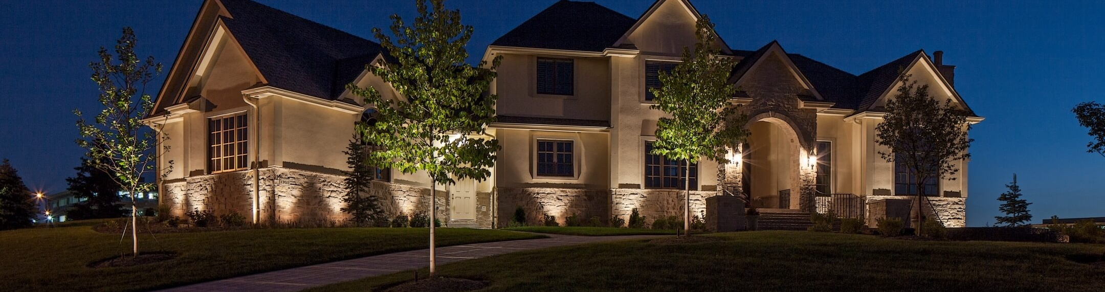 Landscape Lighting Before and After Photos