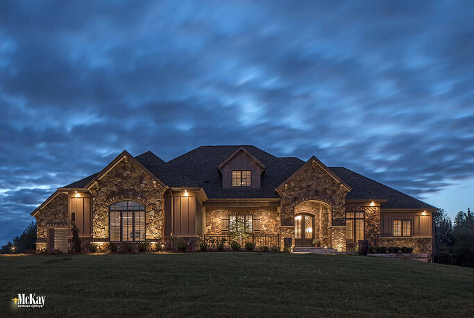 Elegant Security Lighting with Curb Appeal Omaha, Nebraska | Learn more about this project installed by McKay Landscape Lighting