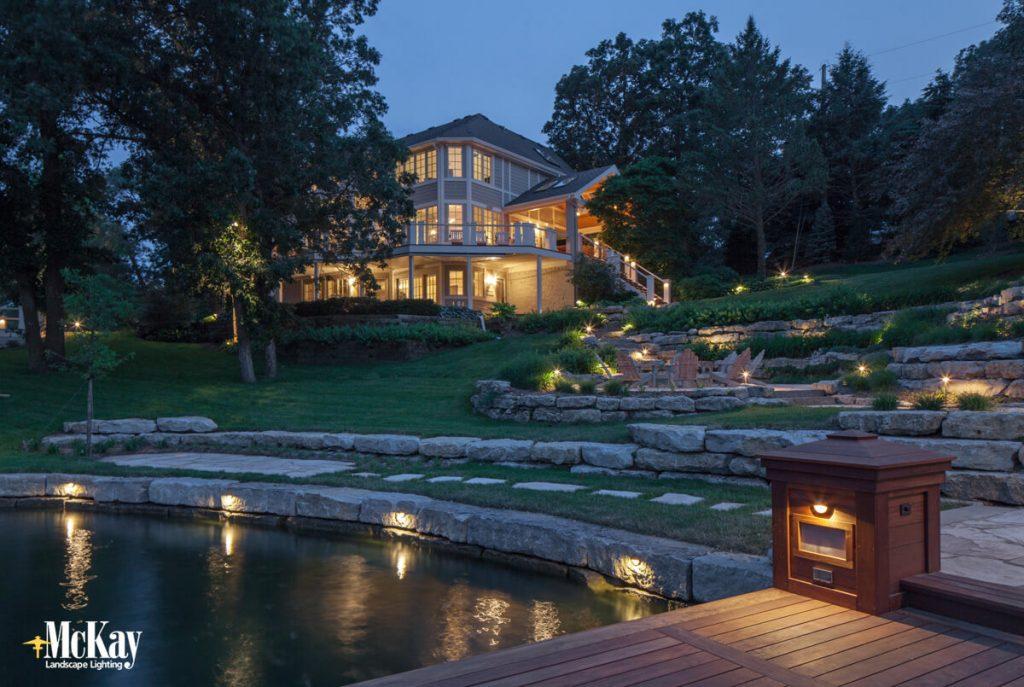Outdoor Landscape Lighting for Nebraska Lake Homes - McKay Lighting