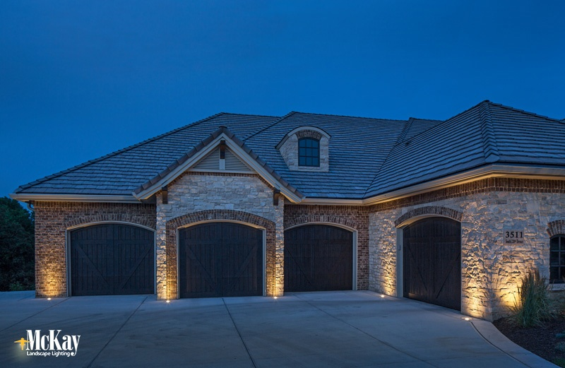 Project spotlight contemporary tudor home outdoor lighting when new homebuilders contacted aj coleman outdoor lighting designer they were looking to forgo the traditional coach lights for their home workwithnaturefo