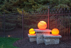 Outdoor lighting blog mckay landscape lighting part 5 fixture hand blown glass fixtures what you need to know to add unique color to your property aloadofball Images