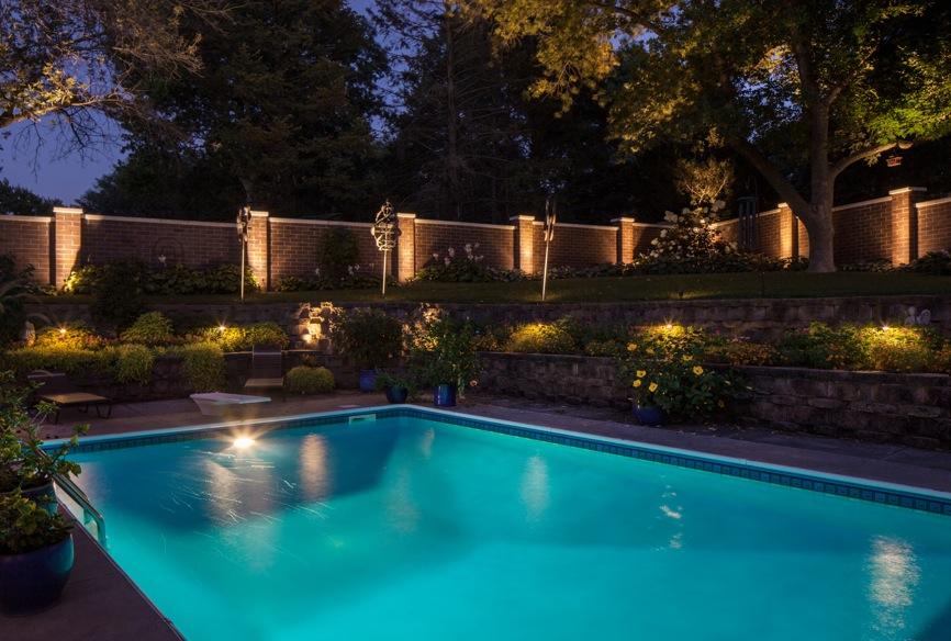 Outdoor lighting blog mckay landscape lighting part 5 security pool lighting part one safety aloadofball Gallery