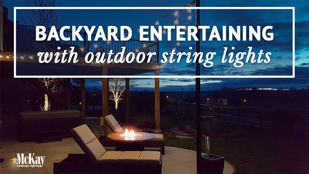 porch string lights led outdoor backyard entertaining landscape lighting garden ideas