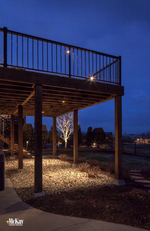 Patio Lighting Omaha Mckay Landscape Lighting