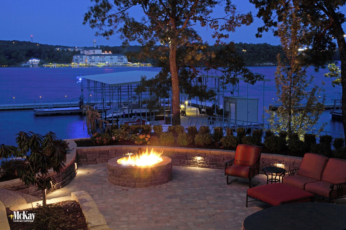 Explore some of our favorite lake house outdoor lighting ideas that will help extend the time in your outdoor living areas. Click to see more... | McKay Landscape Lighting - Omaha, Nebraska