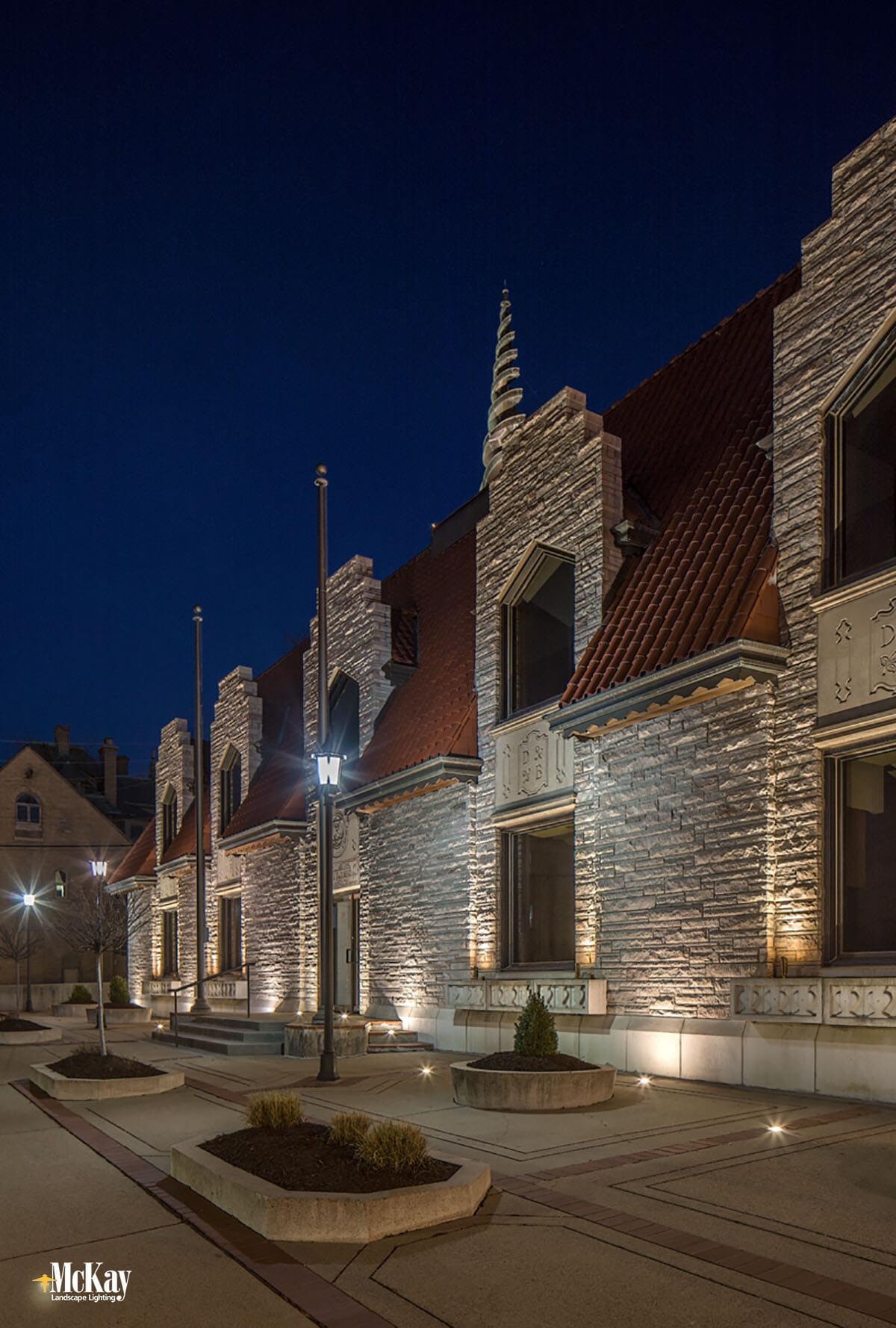 Historic Commercial Building Outdoor Lighting Mckay