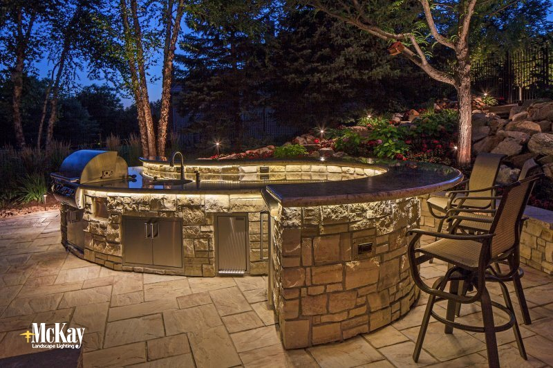 outdoor kitchen omaha lighting cooking and grilling outside is summertime staple now that football season here you might fire up the grill for some burgers brats game outdoor lighting blog mckay landscape part