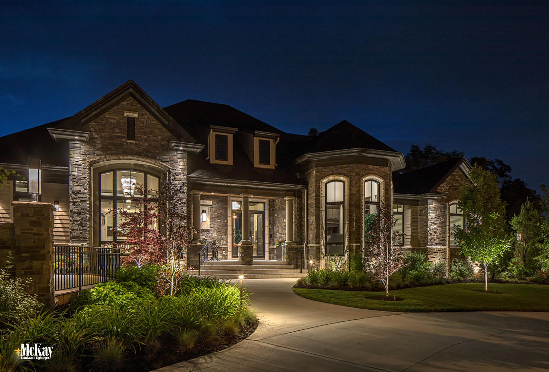 Low Voltage Landscape Lighting Design:  Outdoor Security Lighting Elkhorn Nebraska | McKay Landscape Lighting