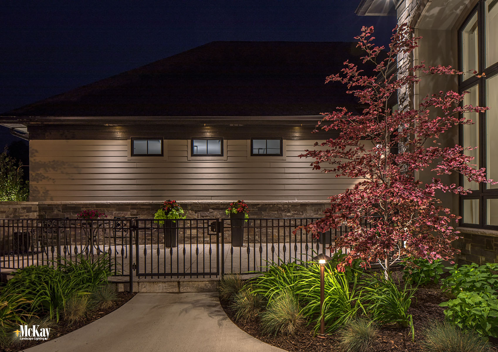 Outdoor Home Security Lighting Omaha Nebraska | McKay Landscape Lighting