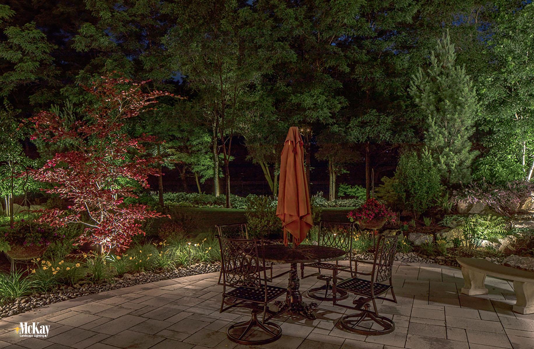 Outdoor Patio Lighting Omaha Nebraska | McKay Landscape Lighting