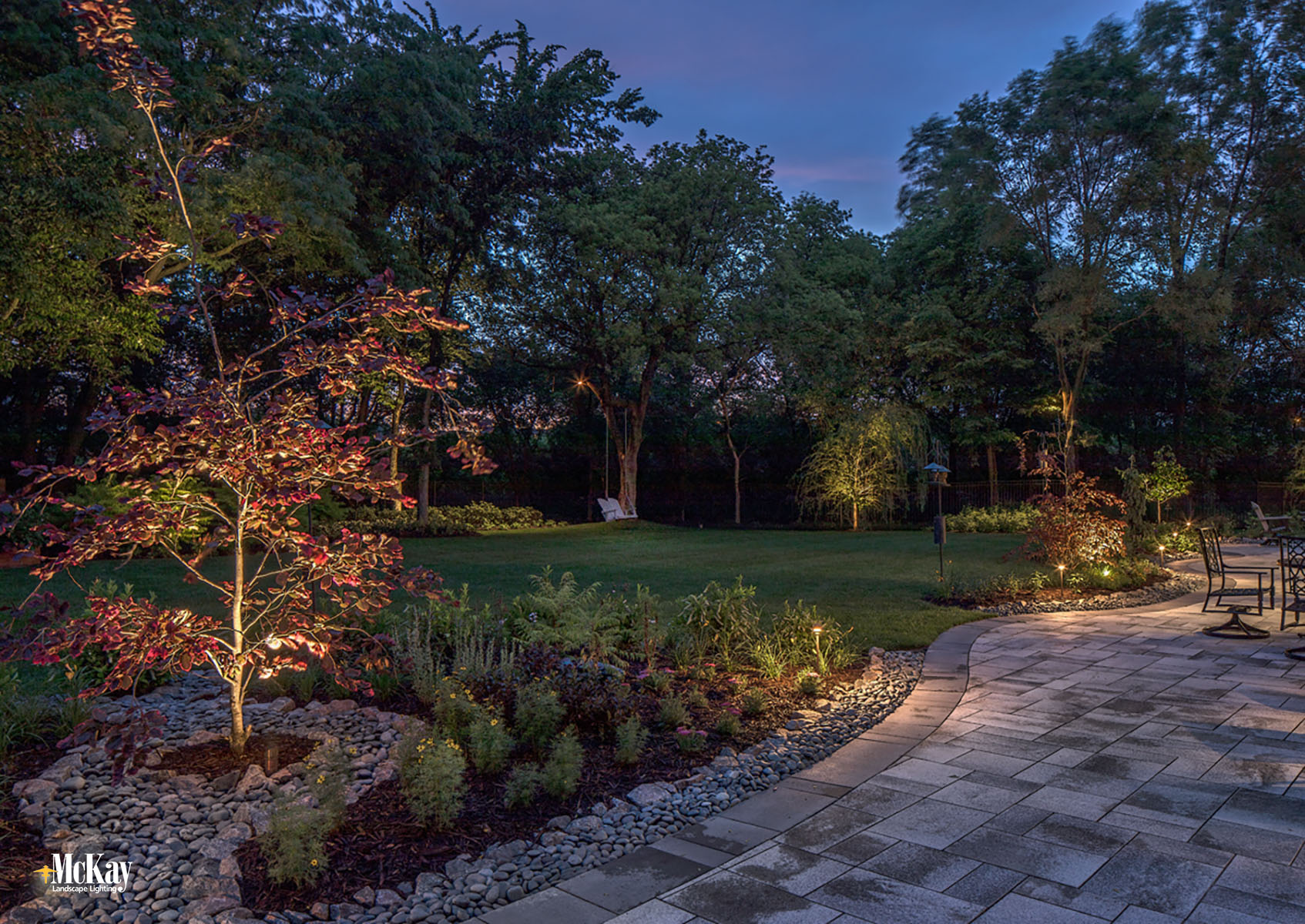 Landscape Lighting Design: Outdoor Patio Lighting Elkhorn Nebraska | McKay Landscape Lighting